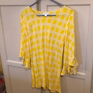 Escapada Summer Tunic Top with Bell Sleeves Large